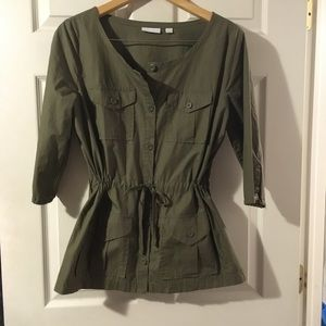 New York& Co. Army green Safari style shirt